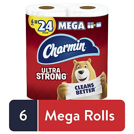 Charmin Ultra Strong Toilet Tissue 6 Mega Roll - 6 RL
