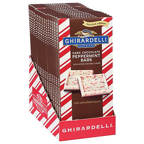 Gh Dark Choc Peppermint Bark Bar - 3.5 OZ
