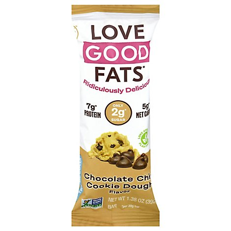 Love Good Fats Choc Chip Cke Dough Bar - 1.38 OZ