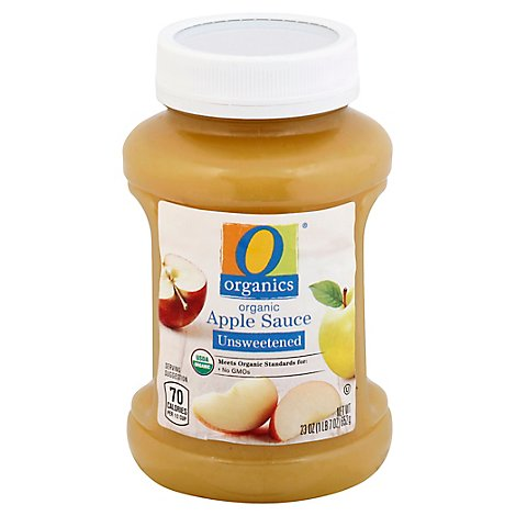 O Organics Apple Sauce Unsweetened - 23 OZ