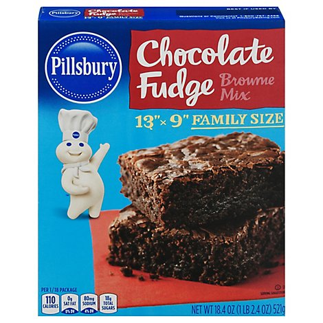 Pillsbury Choc Fudge Brownie Mix - 18.4 OZ
