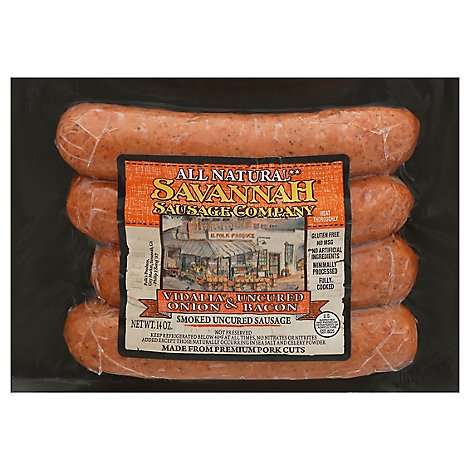 Savannah Sausage Vidalia Onion And Bacon Smoked - 14 OZ