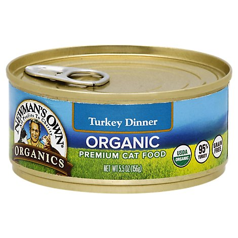 Newmans Own Organics Can For Cats Turkey Grain Free - 5.5 OZ