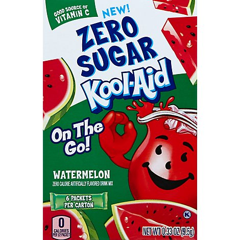 Kool Aid On The Go Watermelon Zero Sugar - .33 OZ