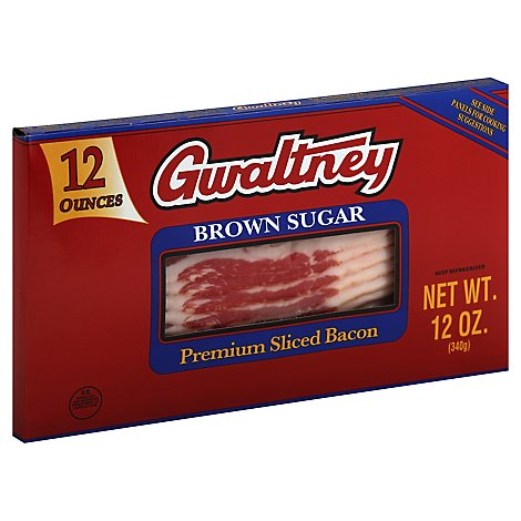 Gwaltney Brown Sugar Bacon Sliced - 12 OZ