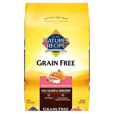 Natures Recipe Grain Free Salmon Dry Dog - 12 LB