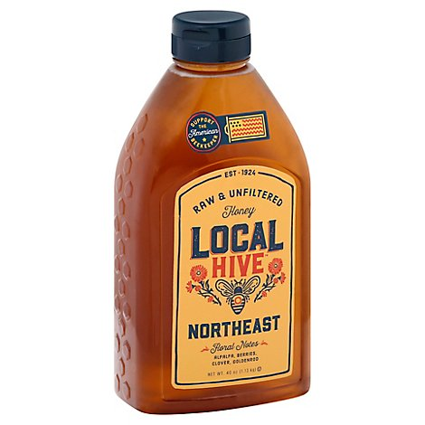 Lr Rice 100% Raw & Unfiltered Us Northeast Honey - 40 OZ