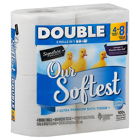 Signature Select Bath Tissue Our Softest Double - 4 RL
