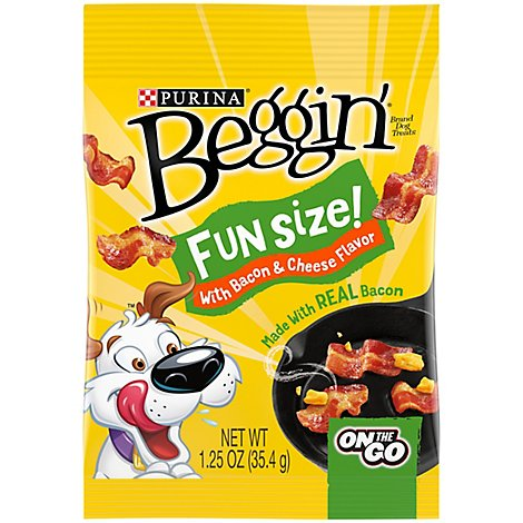Beggin Dog Treats Original With Bacon Fun Size - 1.25 Oz