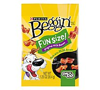 Beggin Dog Treats Bacon & Cheese Flavor Fun Size - 1.25 Oz