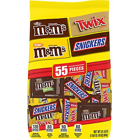 Mars Fun Size Variety Mix Stand Up Pouch - 31.18 OZ