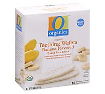 O Organics Teething Wafer Banana Rice Snack - 12-0.14OZ