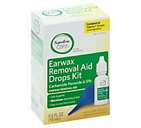 Signature Care Earwax Removal Aid Drops Kit - .5 FZ