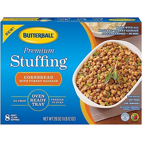 Butterball Premium Stuffing Cornbread With Turkey Sausage - 28 Oz