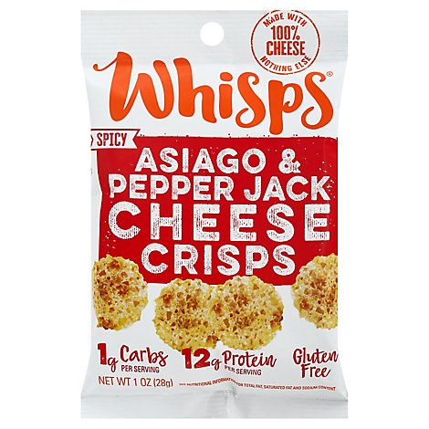 Whisps Cheese Crisps Asiago Pepper Jack - 1 Oz.