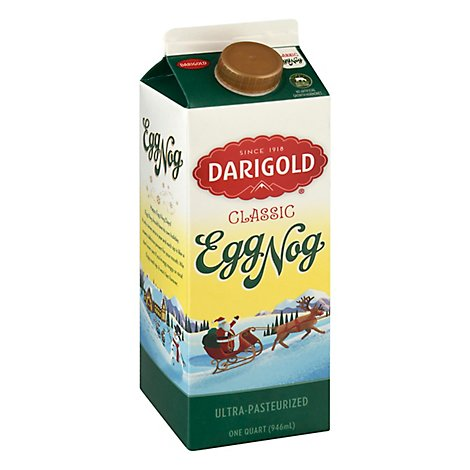 Darigold Egg Nog Quart Ultra Pasteurized - 1 QT