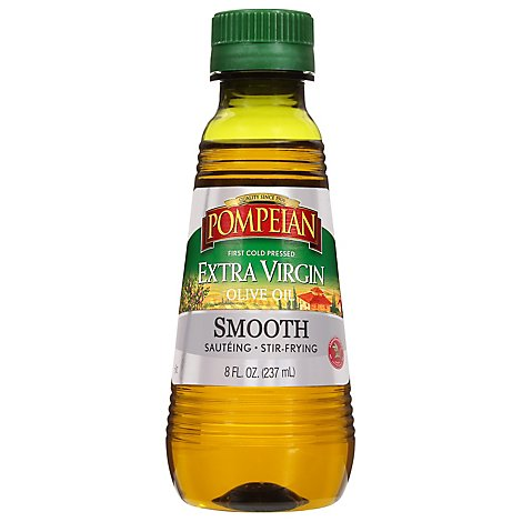 Pompeian Extra Virgin Olive Oil Smooth - 8 FZ
