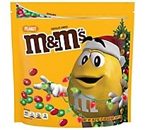M&Ms Chocolate Candies Chrismas Holiday Milk Chocolate Peanut - 38 Oz