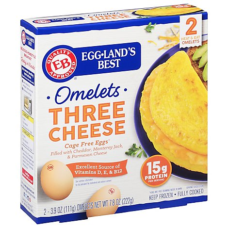 Egglands Best Three Cheese Omelet - 2 CT