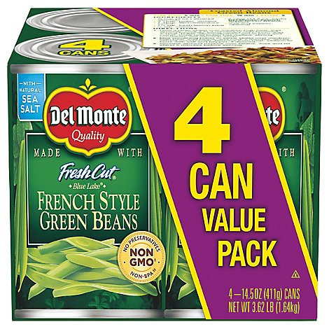 Del Monte Fresh Cut Blue Lake French Style Green Beans - 4-14.5 OZ