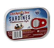 Chicken Of The Sea Sardines Mediterranean Style - 3.75 OZ