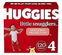 Huggies Little Snugglers Diapers Size 4 Huge Pack - 120 Count