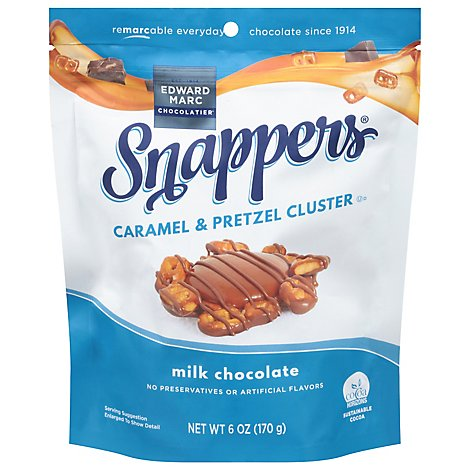 Snappers Crafted Snacks Pretzels Caramel Milk Chocolate - 6 Oz