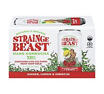 Strainge Beast Ginger Lemon & Hibiscus Hard Kombucha In Cans - 6-12 FZ