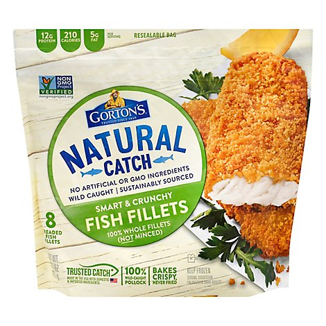 Gortons Smart & Crunchy Fish Fillet - 15.2 OZ
