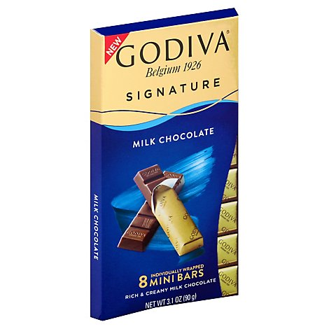 Godiva Choc Bar Mini Milk - 3.1OZ