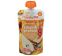Happy Tot Organics Fiber & Protein Stage 4 Organic Pears, Peaches, Pumpkin - 4 OZ