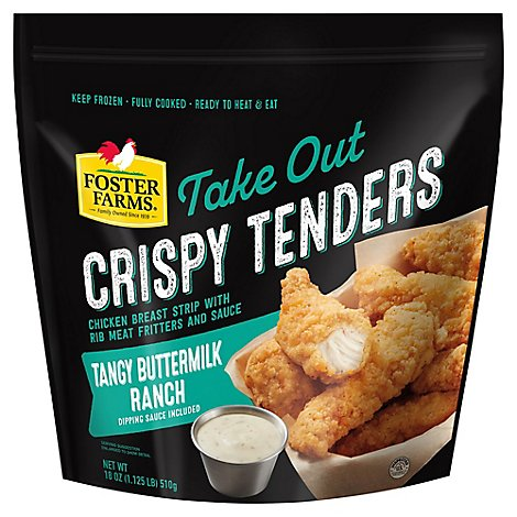 Foster Farms Crispy Tenders With Tangy Ranch Dipping Sauce - 18 Oz.
