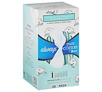 Always Pure Cotton Flex Foam Pads Size 1 Unscented - 28 CT