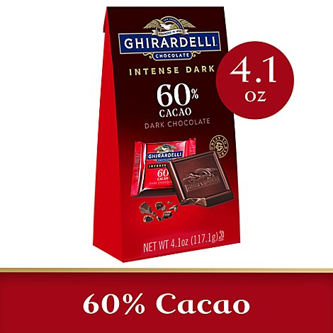 Ghirardelli Intense Dark Chocolate Squares 60% Cacao - 4.1 Oz