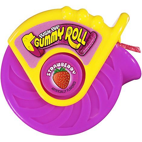 Push Pop Candy Gummy Roll Strawberry - 1.4 Oz