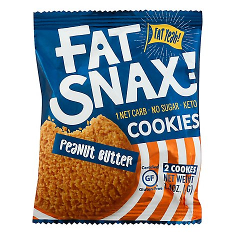 Fat Snax Cookie Peanut Butter - 1.4 OZ