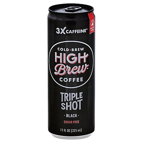 High Brew Coffee Triple Shot Black - 11 OZ