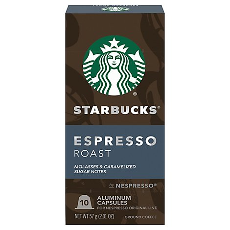 Starbucks Nespresso Dark Esprsso Roast Coffee Pods - 10 CT