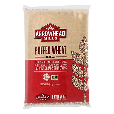 Arrowhead Mills Cereal Puff Wheat Ns - 6 OZ