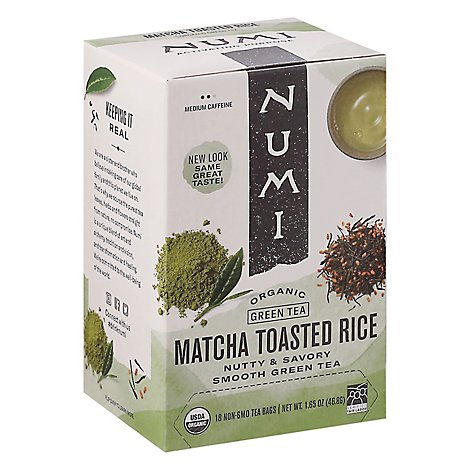 Numi Tea Organic Matcha Toasted Rice - 18 BG