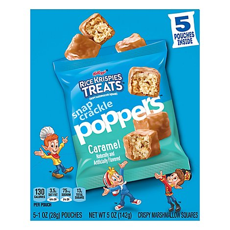 Rice Krispies Treats Crispy Marshmallow Squares Caramel 5 Count - 5 Oz