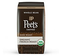 Peets Organic French Roast Whole Bean Coffee - 18 OZ