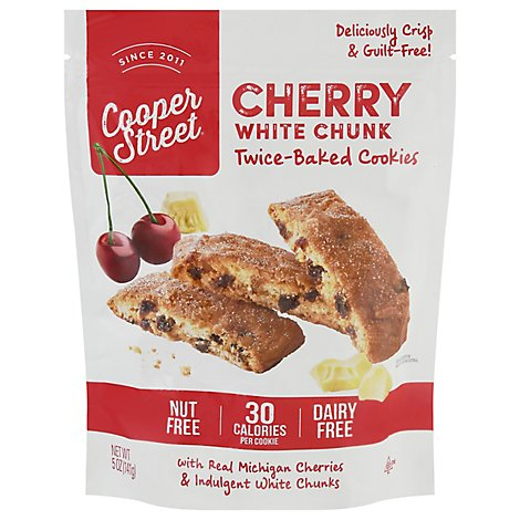 Cooper Street Cookies Whte Chnk Cherry - 5 OZ