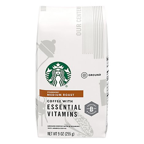 Starbucks Vitamin Essentials Medium Ground Coffee - 9 OZ
