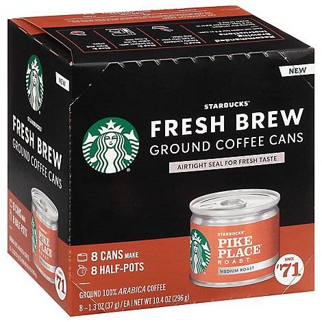 Starbucks Medium Pike Place Roast Fresh Brew Coffee - 8 CT