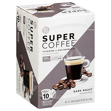 Super Coffee K-cup Dark Roast - 10 CT