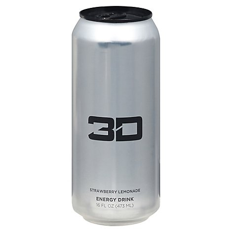 3d Energy Drink Chrome - 16 OZ