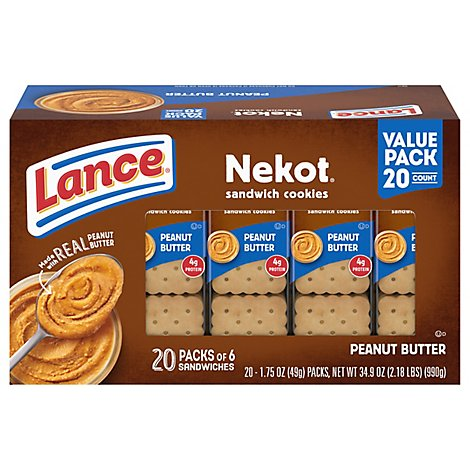 Lance Nekot Sandwich Cookiie 20 Count Pack - 35 OZ