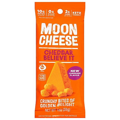 Moon Cheese Cheese Snack Cheddar - 1 OZ