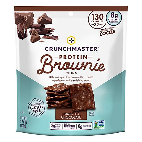 Crunchmaster Brownie Thin Milk Choc - 3.54 OZ